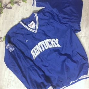 Reebok KENTUCKY Pull Over Athletic Jacket Men's XL